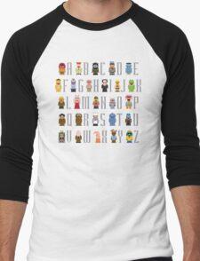 Muppet Alphabet Men's Baseball ¾ T-Shirt
