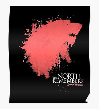 THRONES SHIRT, THE-NORTH-REMEMBERS T-SHIRT 2016 Poster