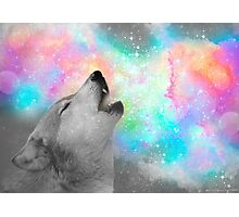 Breathing Dreams Like Air (Wolf Howl Abstract II: Gray) Photographic Print