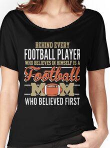 Football Mom T Shirt Women's Relaxed Fit T-Shirt