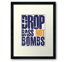 Drop Bass Not Bombs (violet/mustard)  Framed Print