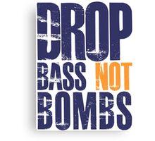 Drop Bass Not Bombs (violet/mustard)  Canvas Print
