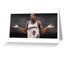 Gilbert Arenas - Agent 0 Greeting Card