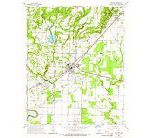 USGS TOPO Map Arkansas AR Bald Knob 257921 1965 24000 Photographic Print