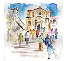 Tourists In Noto Poster