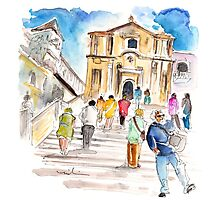 Tourists In Noto Photographic Print