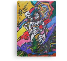 fight of the androgyne and birth of the new star Canvas Print