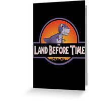 The Land Before Time - Jurassic Park Greeting Card