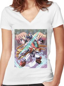 Zero X Women's Fitted V-Neck T-Shirt