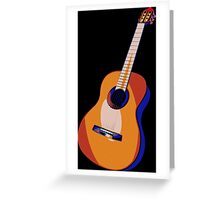 Guitar of Colors Greeting Card