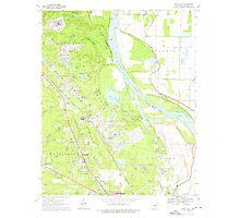 USGS TOPO Map Arkansas AR White Hall 259869 1970 24000 Photographic Print