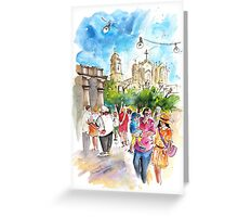 A Saturday In Noto Greeting Card