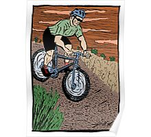 Mountain Biking On Corral Loop Poster
