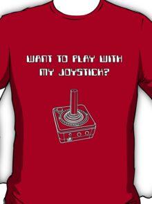 Retro Gamer - Play With Joystick T-Shirt