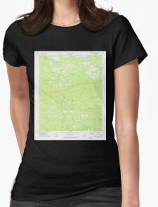 USGS TOPO Map Arkansas AR Chalybeate Mtn West 258175 1975 24000 Womens Fitted T-Shirt
