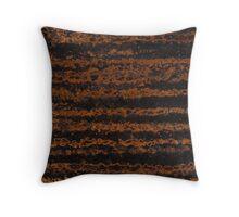 Copper Zebra Stripes Throw Pillow
