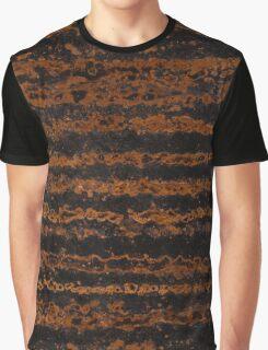 Copper Zebra Stripes Graphic T-Shirt