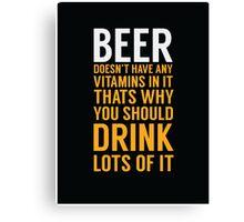Beer Drinker Canvas Print