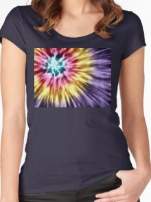 Abstract Purple Tie Dye Women's Fitted Scoop T-Shirt