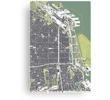 Buenos Aires city map engraving Canvas Print
