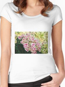 colored flowers in spring Women's Fitted Scoop T-Shirt