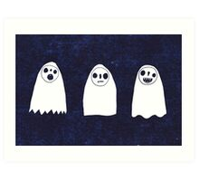 Three Spooky Ghosts Art Print