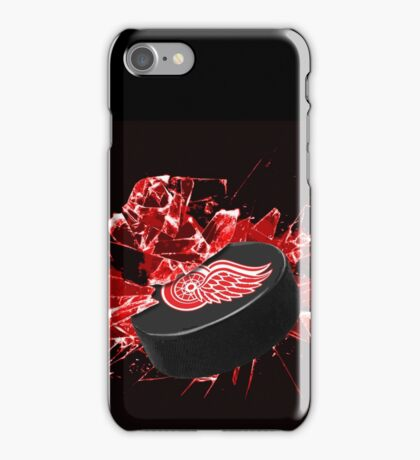 Detroit Red Wings Puck iPhone Case/Skin