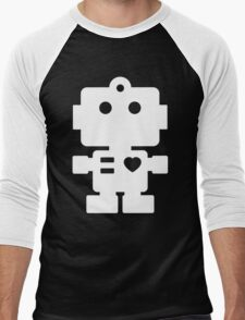 Robot - black & white Men's Baseball ¾ T-Shirt