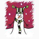 Festive Snowman by himmstudios