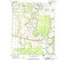 USGS TOPO Map Arkansas AR Augusta SW 257907 1968 24000 Photographic Print