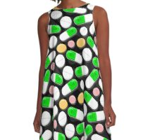 Deadly Pills Pattern A-Line Dress