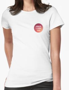 jesus loves you pink Womens Fitted T-Shirt