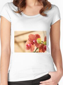 orchid bloom Women's Fitted Scoop T-Shirt