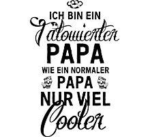 Tätowierter Papa Photographic Print