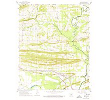 USGS TOPO Map Arkansas AR Menifee 259092 1961 24000 Photographic Print