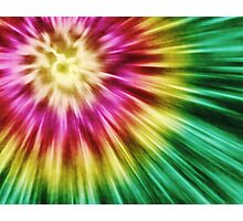Abstract Green Tie Dye Photographic Print