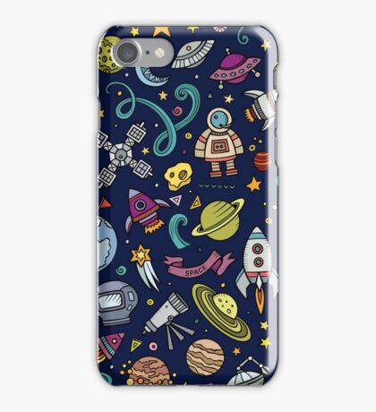 Cartoon Space Explorer Birthday Kids Theme iPhone Case/Skin