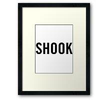 Shook (Black) Framed Print