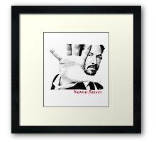 Keanu Reeves (Black and White) var1 Framed Print
