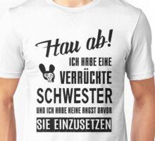 Verrückte Schwester Unisex T-Shirt