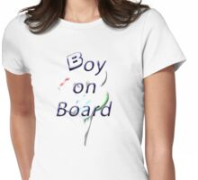 Boy on Board Womens Fitted T-Shirt