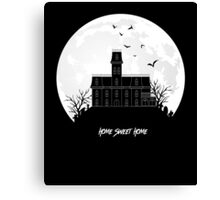Home Sweet Home - Haunted House Canvas Print