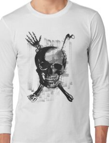 Wicked Skull with Bones Long Sleeve T-Shirt