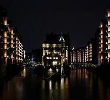 Speicherstadt Hamburg at Night by Imi Koetz