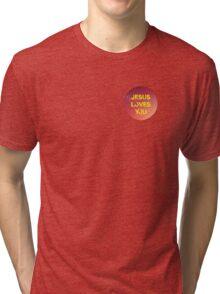 jesus loves you pink Tri-blend T-Shirt