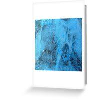 Blue Copper Rust Greeting Card