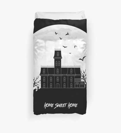 Home Sweet Home - Haunted House Duvet Cover