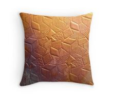 Geometric Copper Throw Pillow