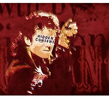 The king of Pop in concert Photographic Print