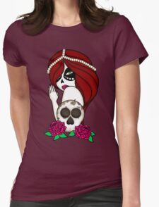 Sugar Skull Woman Womens Fitted T-Shirt
